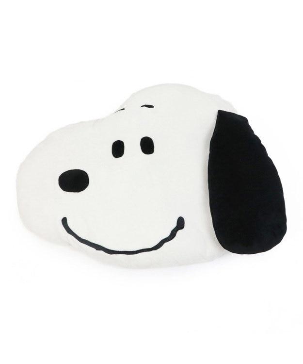 PET PARADISE スヌーピー フェイス クッション 白~オフホワイト