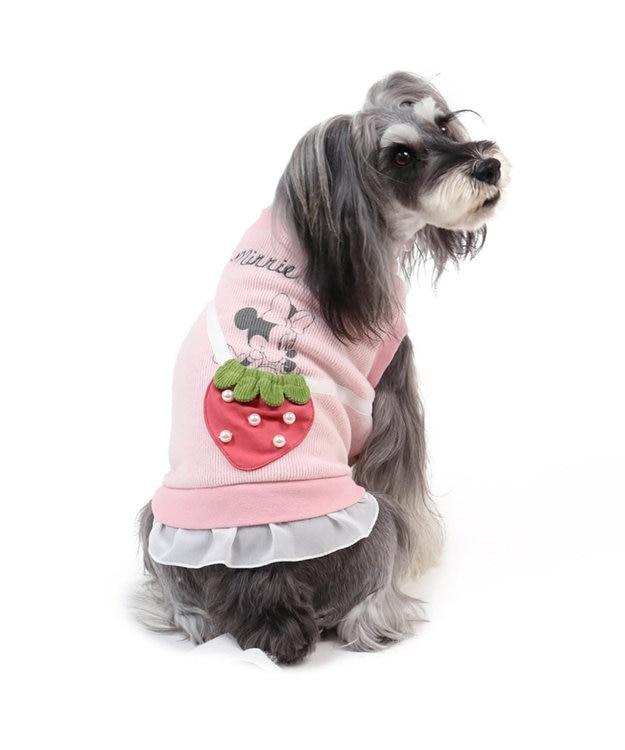 PET PARADISE ディズニー ミニーマウス 苺 ポシェットトレーナー〔超・小型犬〕