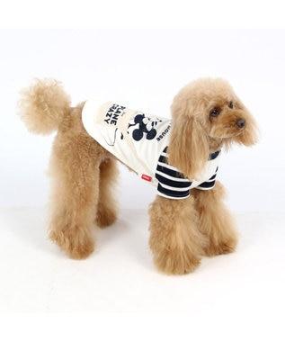 PET PARADISE ディズニー ミッキーマウス サーモキープパイルTシャツ〔小型犬〕 紺(ネイビー・インディゴ)