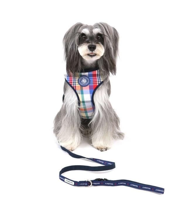 PET PARADISE J.PRESS マドラス ハーネス&リード S 小型犬 マルチカラー