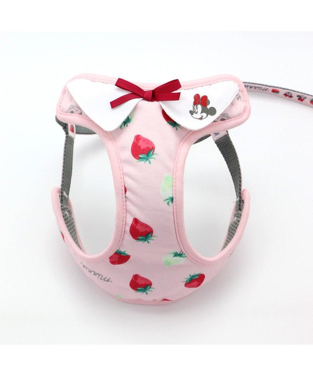 PET PARADISE ミ二ーマウス 苺総柄 ハーネスリード ペットS  〔小型犬〕 ピンク(淡)