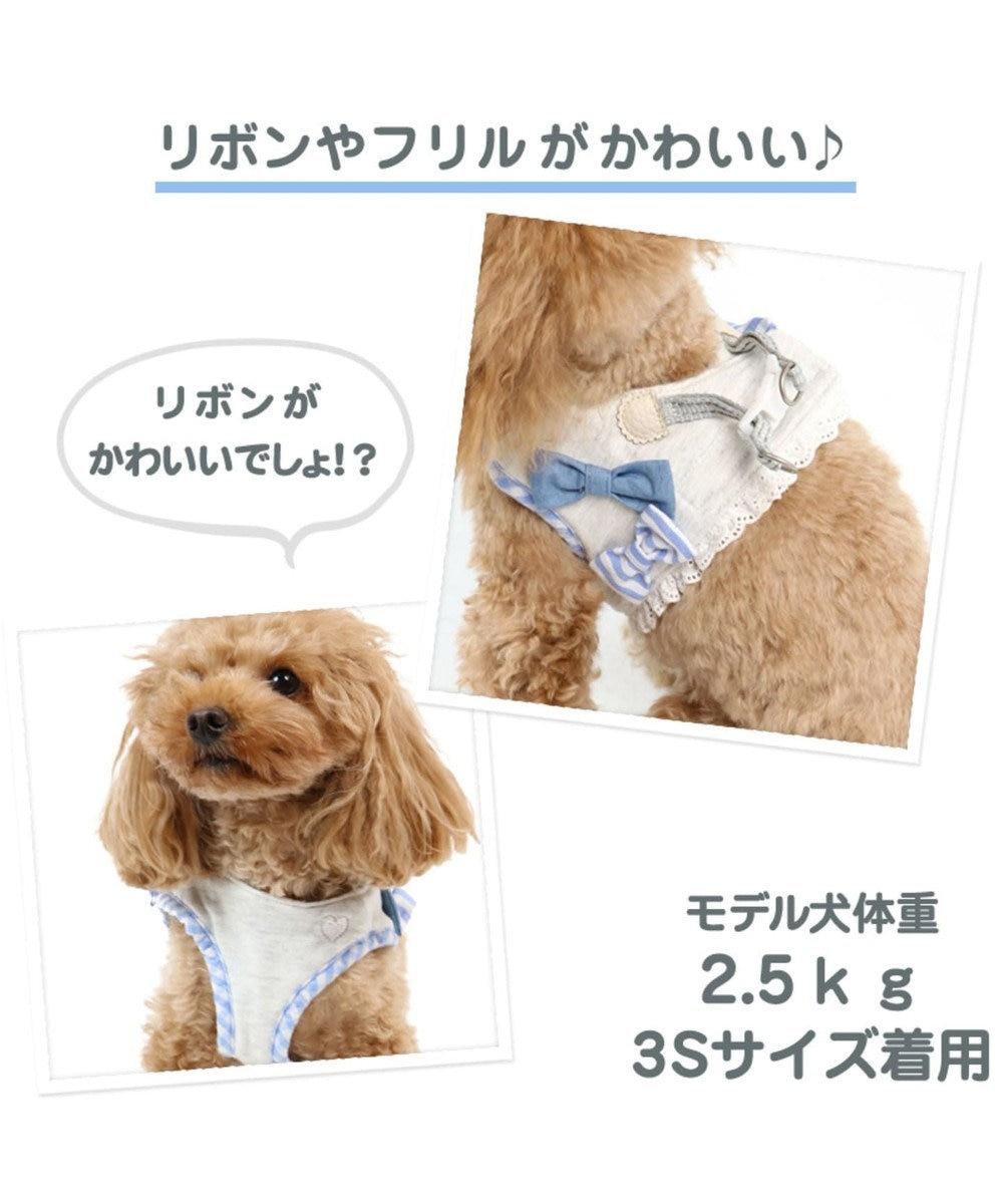 PET PARADISE ペットパラダイス りぼん ベストハーネス ペット3S 〔小型犬〕 グレー
