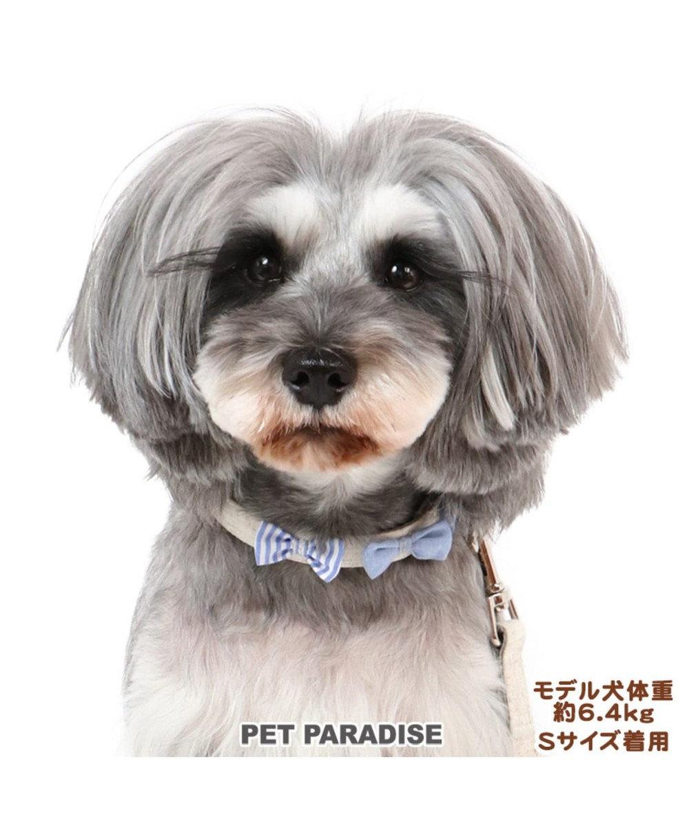 PET PARADISE ペットパラダイス りぼん 首輪  ペットS 〔小型犬〕 ベージュ