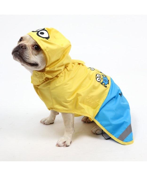 PET PARADISE ミニオン レインコート ポンチョタイプ 〔中型犬〕