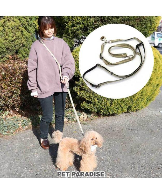 PET PARADISE ペットパラダイス 2way ショルダー リード ペット4S~3S〔小型犬〕 カーキ