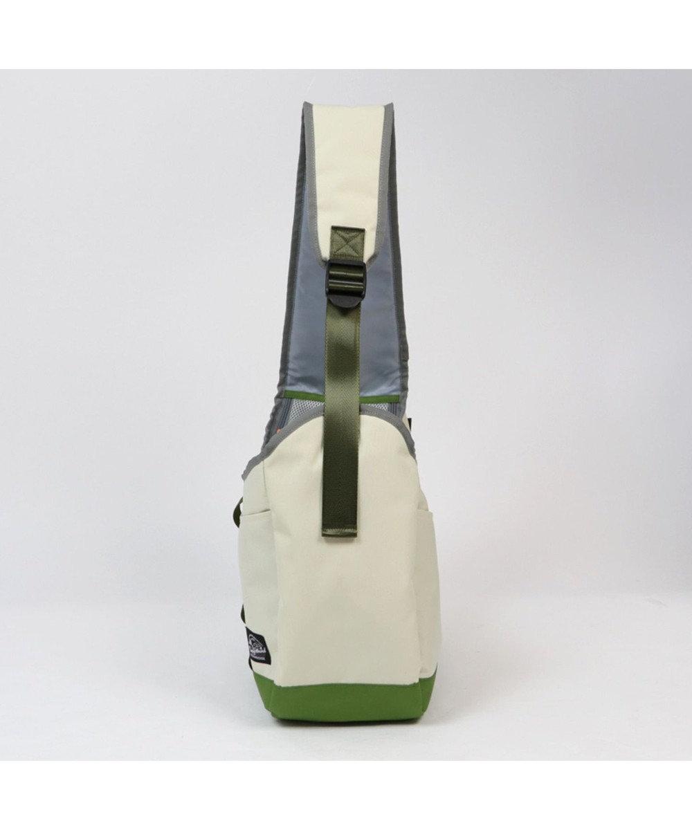 PET PARADISE コーデュラ スリング キャリーバッグ ライトベージュ×カーキ〔小型犬〕 白~オフホワイト