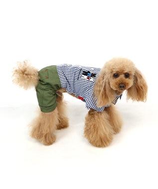 PET PARADISE リサとガスパール ギンガムチェック パンツつなぎ 〔超・小型犬〕 黒