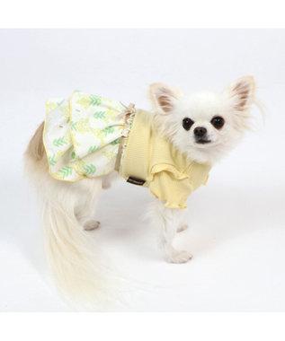 PET PARADISE 犬服 犬用品 ペットグッズ ペットウェア ペットパラダイス 犬 服 春 ワンピース リブ ドッグウエア ドッグウェア イヌ おしゃれ かわいい 黄