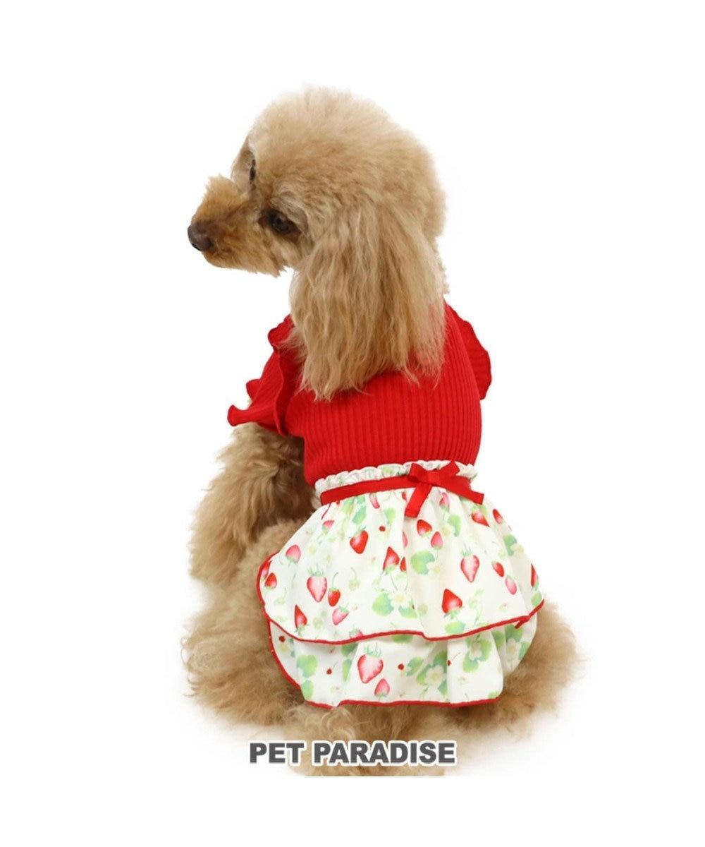 PET PARADISE ペットパラダイス リブ ワンピース 苺 〔超小型・小型犬〕 赤