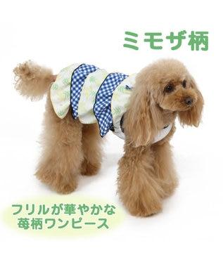 PET PARADISE ペットパラダイス フリル ワンピース ミモザ 〔超小型・小型犬〕 黄
