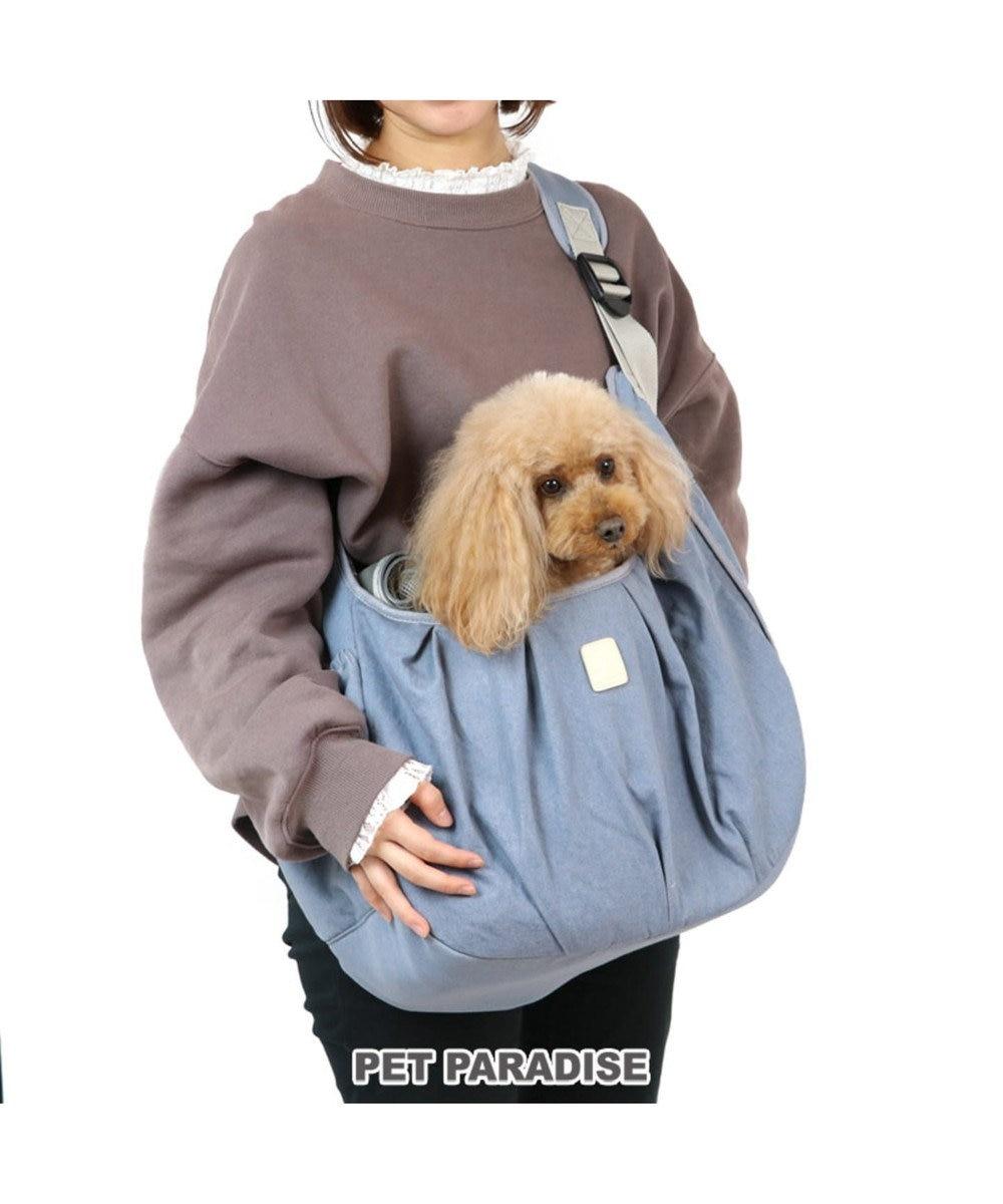 PET PARADISE ペットパラダイス フリル ソフト キャリーバッグ 〔小型犬〕 水色