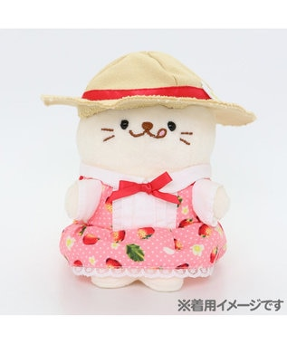 Mother garden しろたん ついてきちゃうしろたん 専用服 苺ワンピース ピンク(淡)