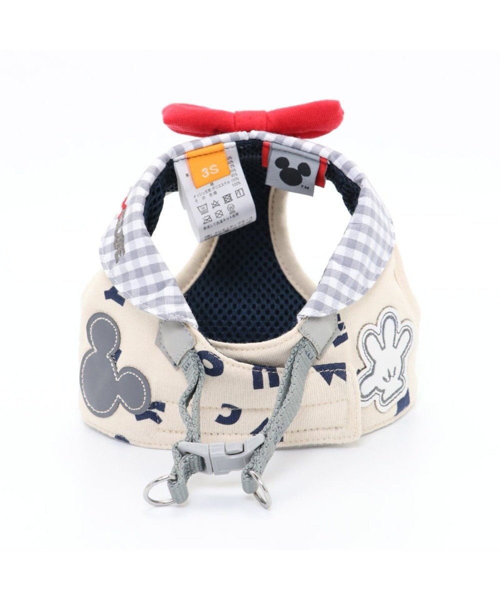 PET PARADISE ミッキーマウス アイコン柄 ベストハーネス 4S〔超小型犬〕 グレー