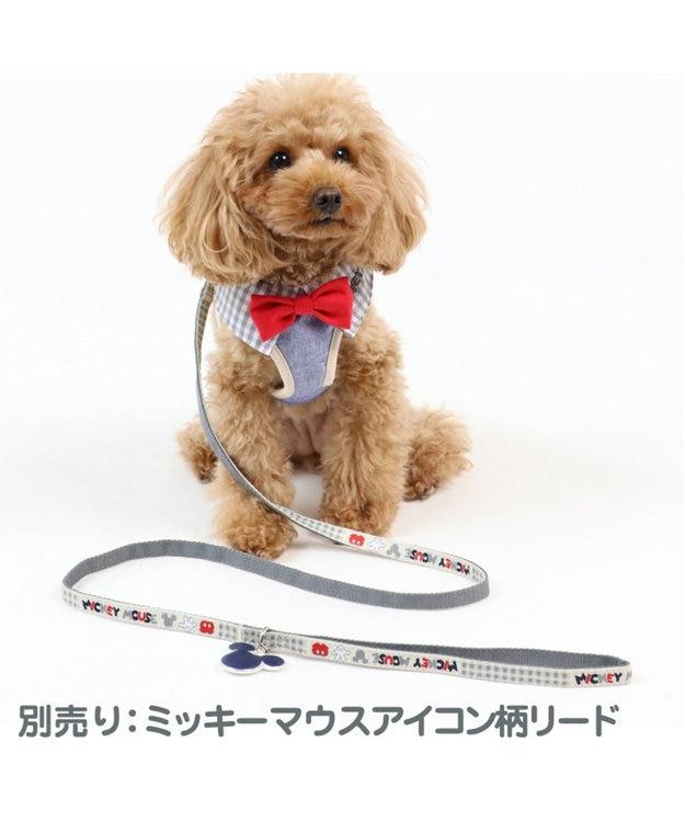 PET PARADISE ミッキーマウス アイコン柄 ベストハーネス 3S 〔超小型犬〕 グレー
