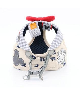 PET PARADISE ミッキーマウス アイコン柄 ベストハーネス SS 〔小型犬〕 グレー