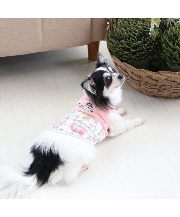 PET PARADISE スヌーピー ベイビー タンクトップ 桃 〔超小型・小型犬〕