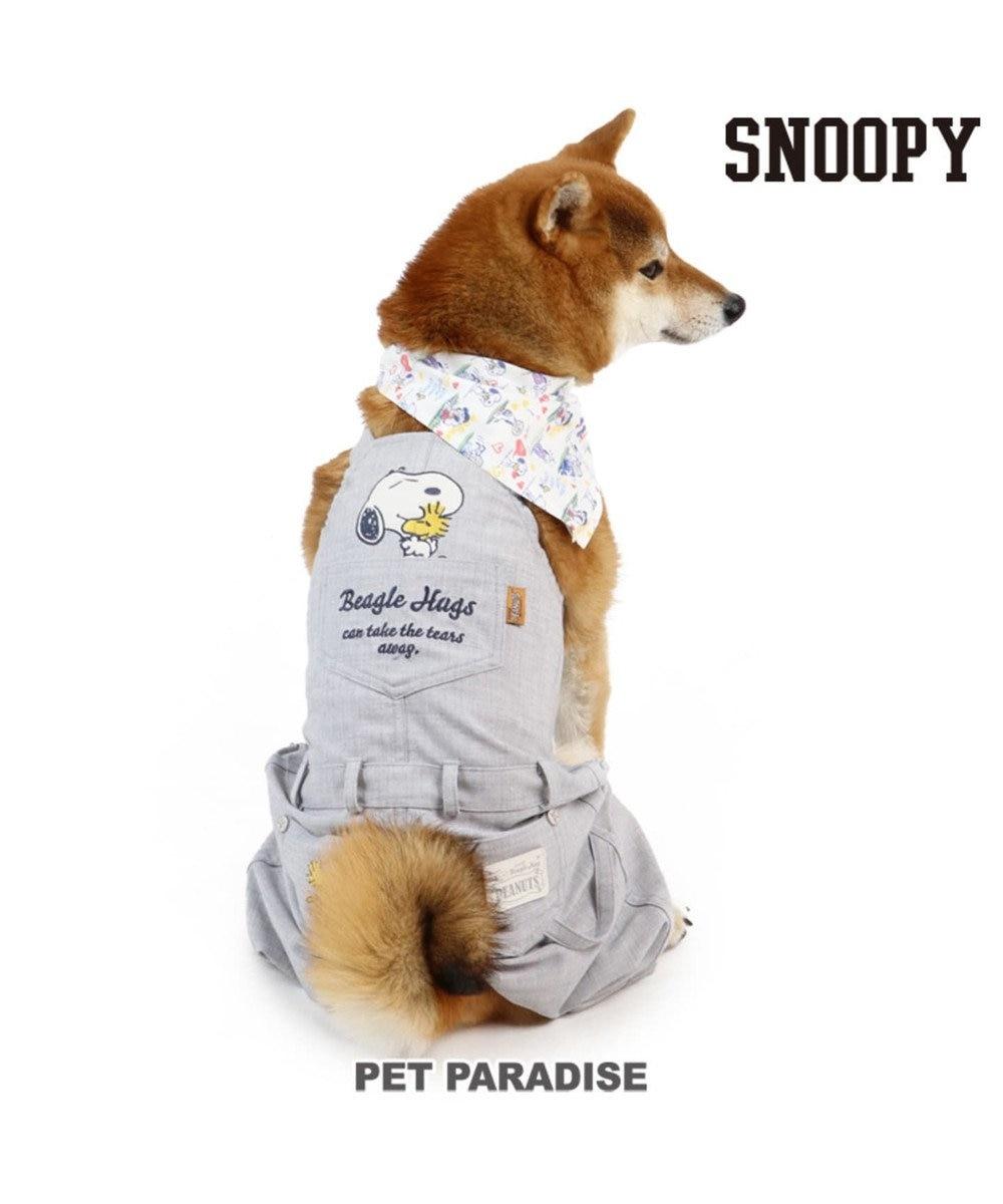 PET PARADISE スヌーピー ビーグルハグ オーバーオール〔中型犬〕 紺(ネイビー・インディゴ)