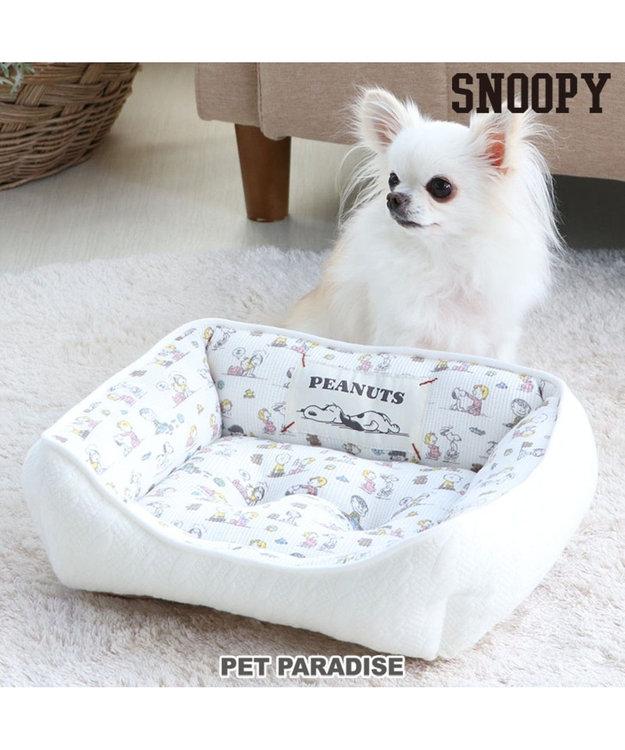 PET PARADISE スヌーピー ペットカドラーS ベイビー カドラーベッド 白~オフホワイト