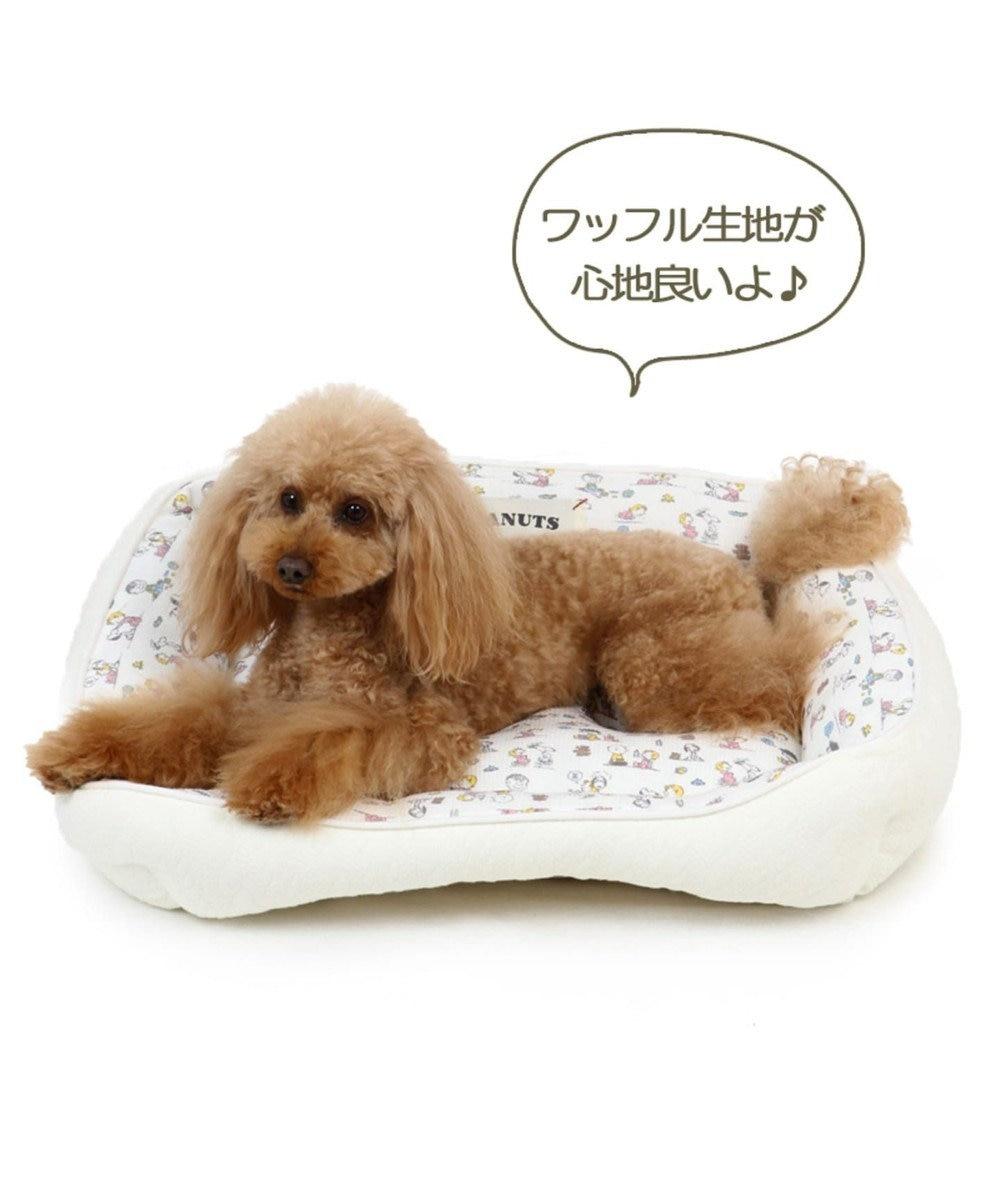 PET PARADISE ペットパラダイス スヌーピー ベイビー カドラーベッド M 白~オフホワイト