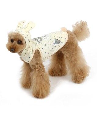 PET PARADISE ディズニー アリス うさ耳パーカー〔超小型・小型犬〕 白~オフホワイト