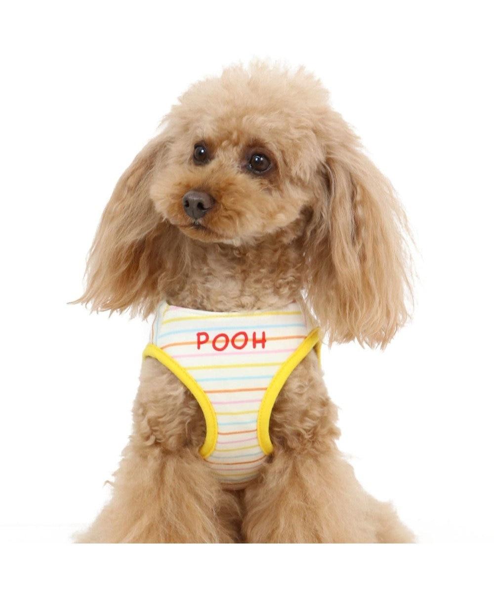 PET PARADISE くまのプーさん らくがき柄 ベストハーネス S 〔小型犬〕 黄