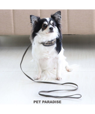 PET PARADISE ペットパラダイス リード付き首輪 迷彩 4S~SS〔超・小型犬〕 カーキ
