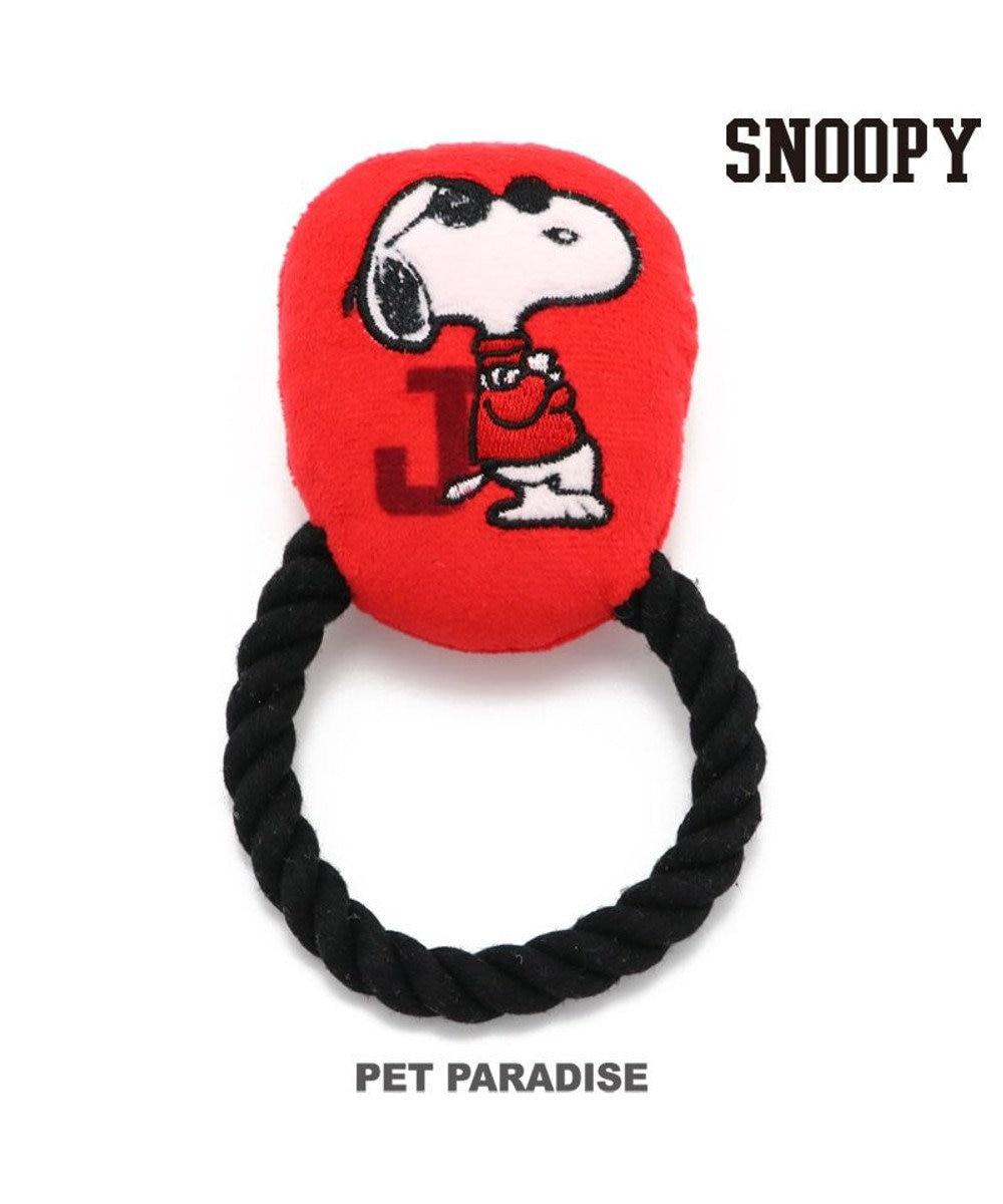 PET PARADISE 犬 トイ TOY スヌーピー ジョークール ロープ おもちゃ 音が鳴る ぬいぐるみ ボール ロープ オモチャ 玩具 小型犬 おもちゃ 猫 かわいい おもしろ インスタ映え 赤