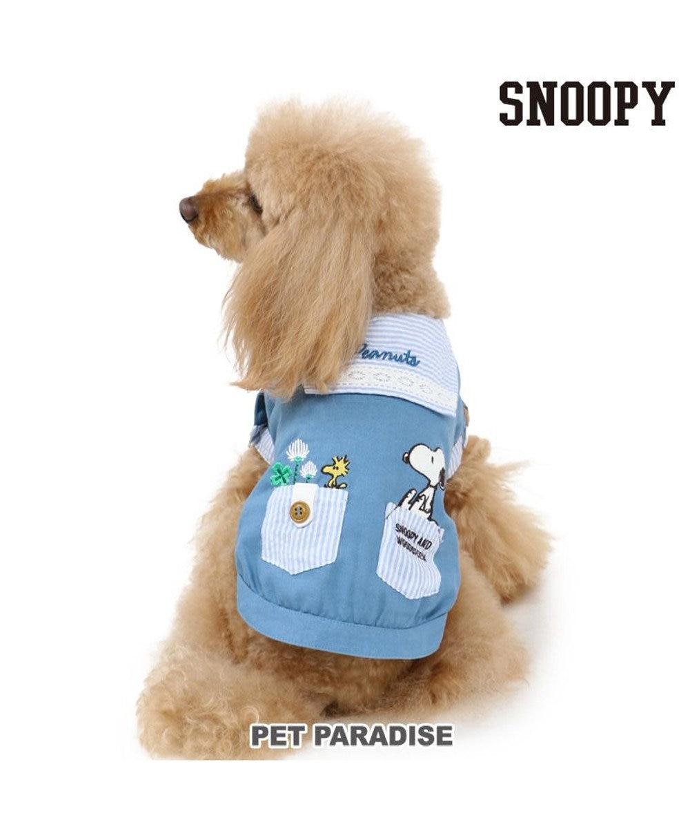 PET PARADISE 犬服 犬 服 ペットパラダイス スヌーピー リネン セーラーシャツ 〔小型犬〕 超小型犬 小型犬 青