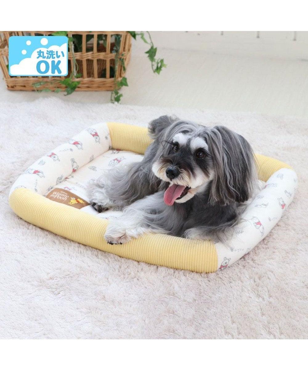 PET PARADISE 犬 カドラー ディズニー くまのプーさん カドラーベッド (57×45cm) ウォッシャブル 洗える 犬 猫 ペットベット ハウス 小型犬 介護夏クッション 黄