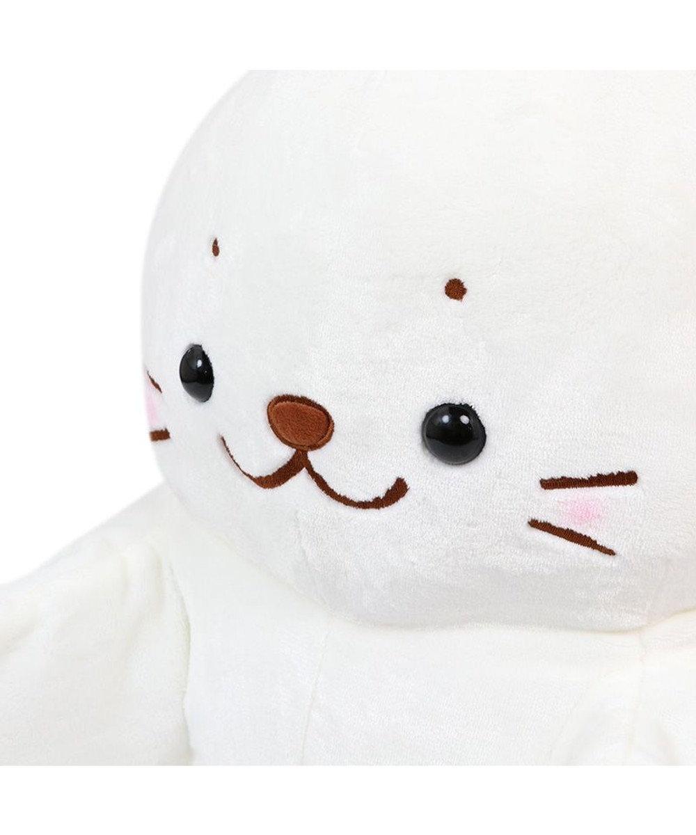 Mother garden しろたん パペぐるみ 55cm 両手用 パペット 人形 ぬいぐるみ あざらし アザラシ かわいい キャラクター マザーガーデン 白~オフホワイト