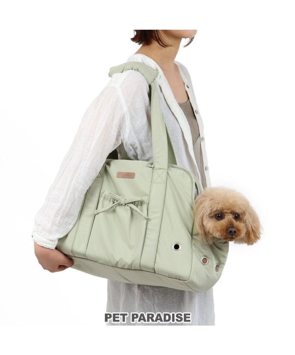 PET PARADISE 犬 キャリー キャリーバッグ 〔小型犬〕 ピスタチオ キャリーバック ショルダー イヌ ドック ペット用品 おしゃれ かわいい 猫 カーキ