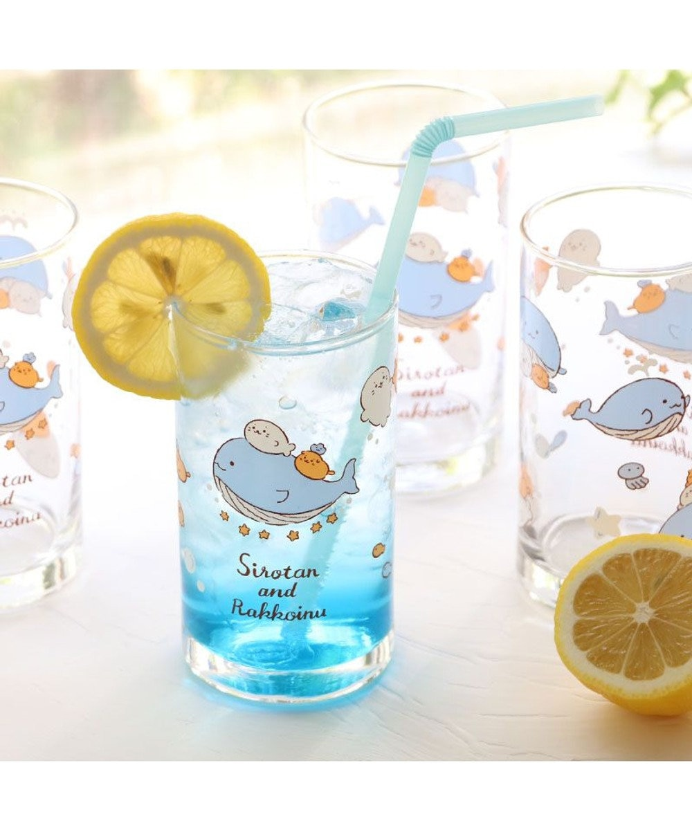 Mother garden しろたん 《星くじら柄》 グラス6個セット グラスセット ガラスコップ キッチン用品 ギフト プレゼント あざらし アザラシ かわいい キャラクター -