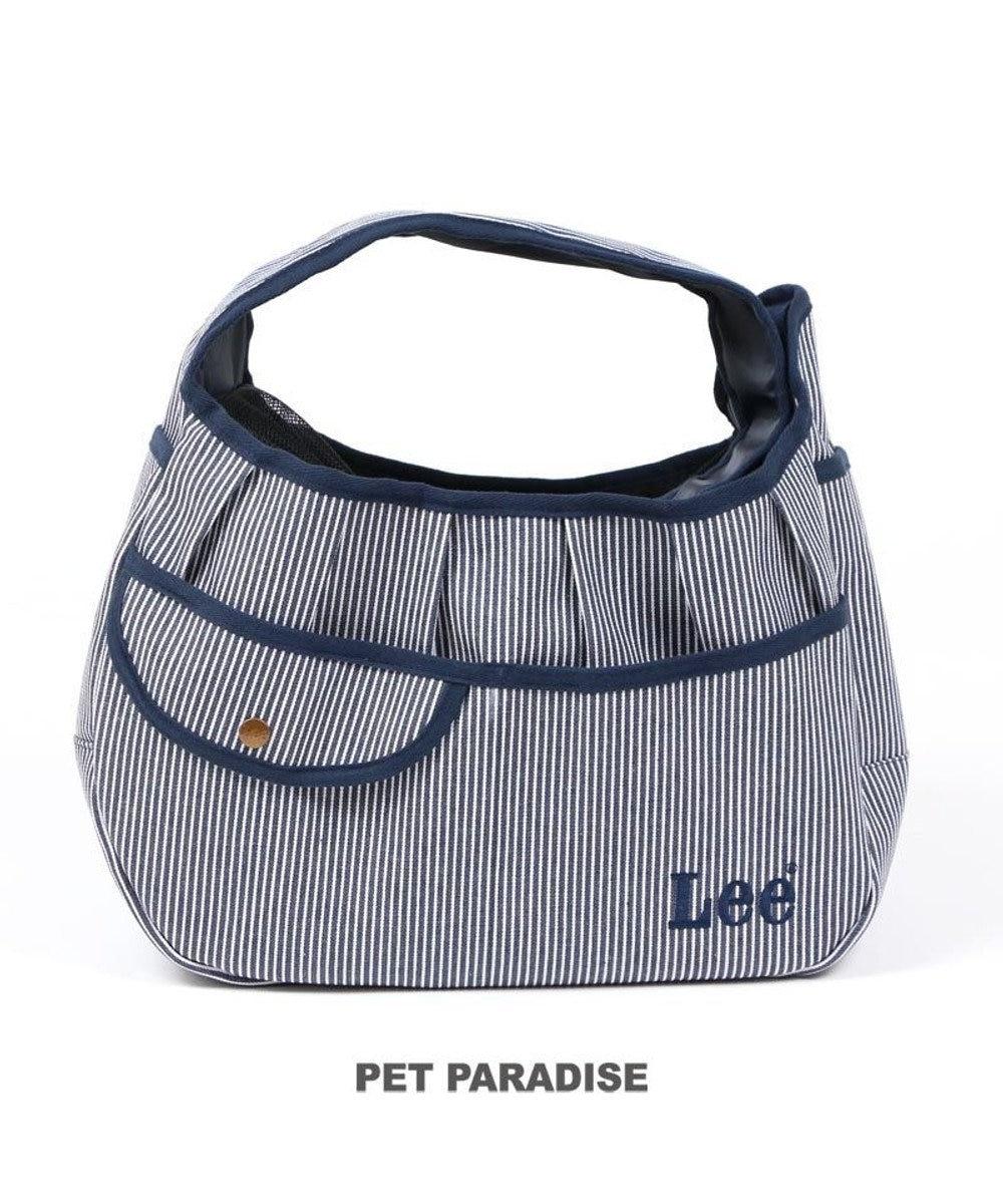 PET PARADISE 犬 キャリー Lee スリング キャリーバッグ 〔小型犬〕 ヒッコリー | キャリーバック ショルダー イヌ ドック ペット用品 おしゃれ かわいい 猫 ネイビー系