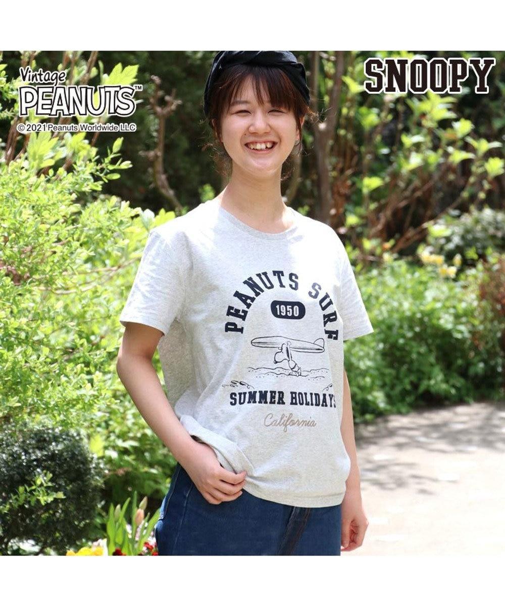 PET PARADISE スヌーピー 限定Tシャツ 愛犬とお揃い サーフ柄 ユニセックスサイズ グレー