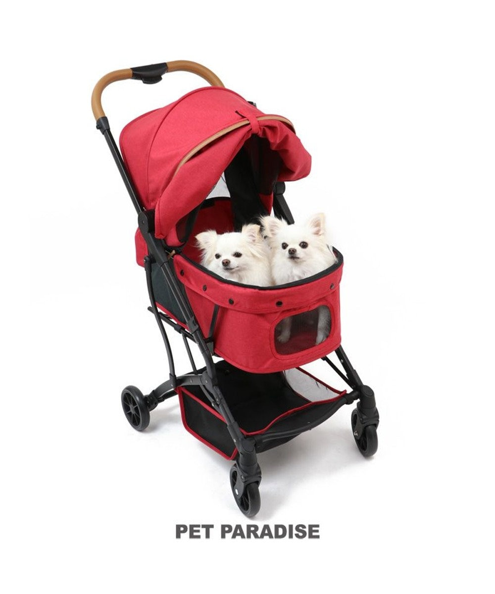 PET PARADISE 犬用品 ペットグッズ キャリーバッグ ペットパラダイス 犬 カート バギー おしゃれ コンパクト ペット カート 赤 送料無料 1年保証 小型犬 4輪 折りたたみ おしゃれ コンパクト ペットバギー 多頭用 介護 軽量 コンパクト収納 折り畳み 1年保証 赤