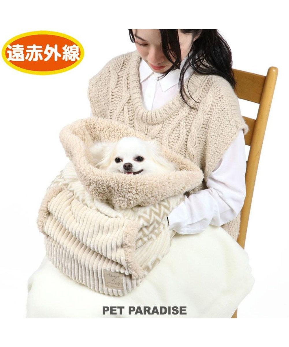 PET PARADISE 犬 ベッド おしゃれ 遠赤外線 犬たんぽ (32×38cm) ボア 寝袋 もこもこ ふわふわ 犬 猫 ベッド ベット 小型犬 介護 おしゃれ かわいい クッション アイボリー