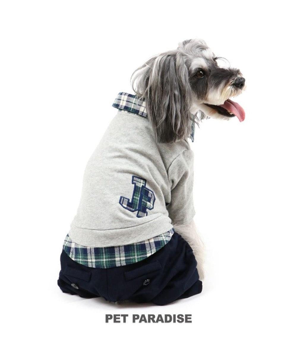 PET PARADISE 犬 服 J.PRESS パンツつなぎ 〔小型犬〕 ロゴ シャツ 犬服 犬の服 犬 服 ペットウエア ペットウェア ドッグウエア ドッグウェア ベビー 超小型犬 小型犬 グレー