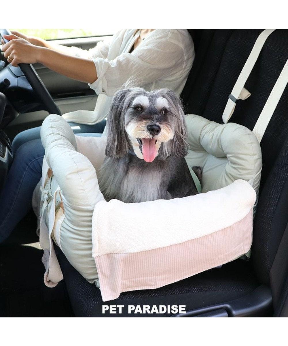 PET PARADISE 犬 猫 ペット ベッド ドライブキャリーバッグ 〔小型犬〕 ピスタチオ キャリーバック 犬 ドライブ ボックス ドライブシート ドライブベット ドライブベッド ドライブカドラー お出掛け 移動 車 おしゃれ 黄緑