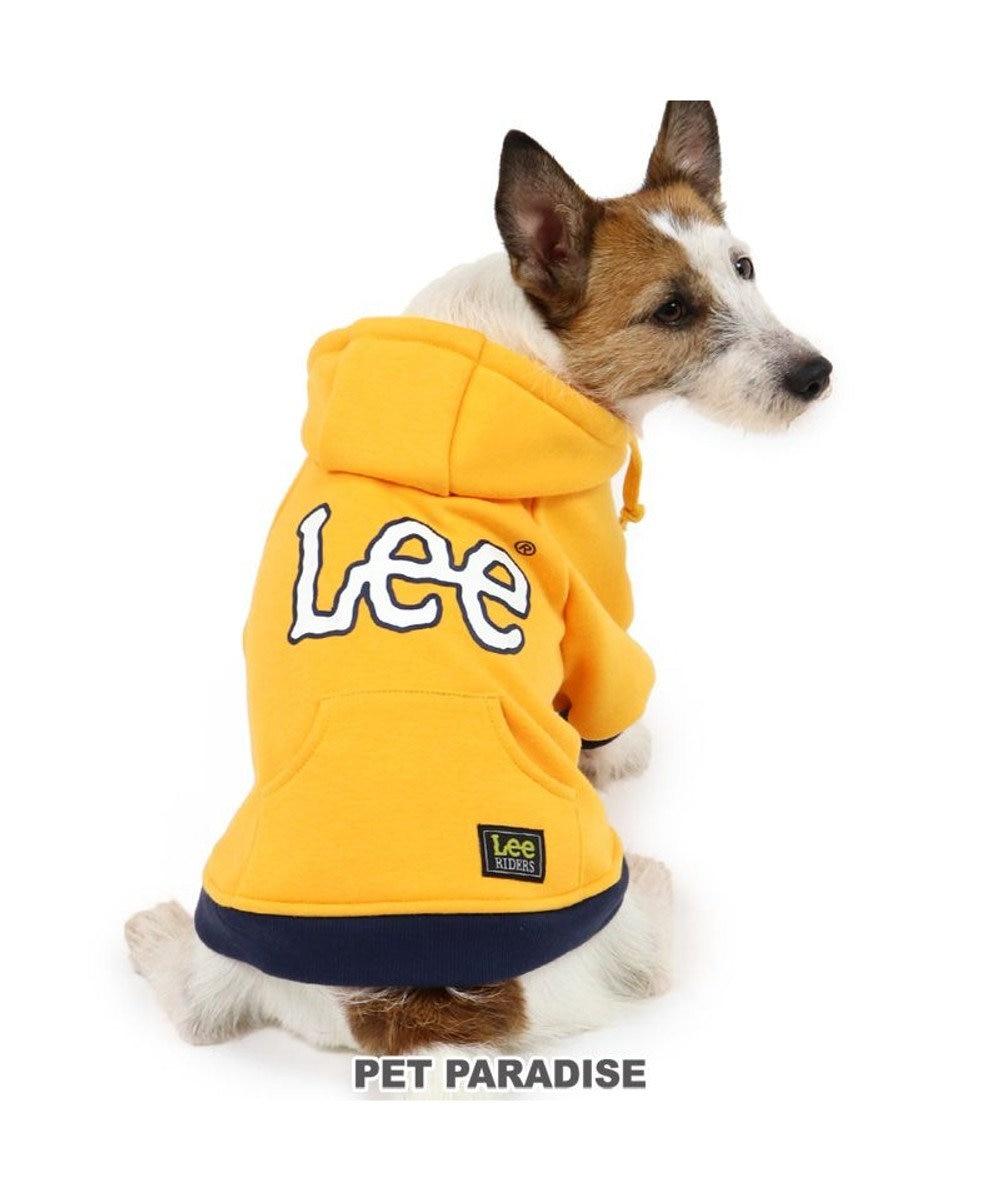 PET PARADISE 犬 服 Lee パーカー 〔小型犬〕 ロゴ配色 | 犬服 犬の服 犬 服 ペットウエア ペットウェア ドッグウエア ドッグウェア ベビー 超小型犬 小型犬 黄色