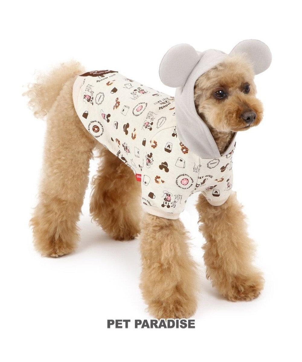 PET PARADISE 犬 服 夏 ディズニー ミッキーマウス パーカー 〔小型犬〕 カフェ柄 犬服 犬の服 犬 服 ペットウエア ペットウェア ドッグウエア ドッグウェア ベビー 超小型犬 小型犬 グレー