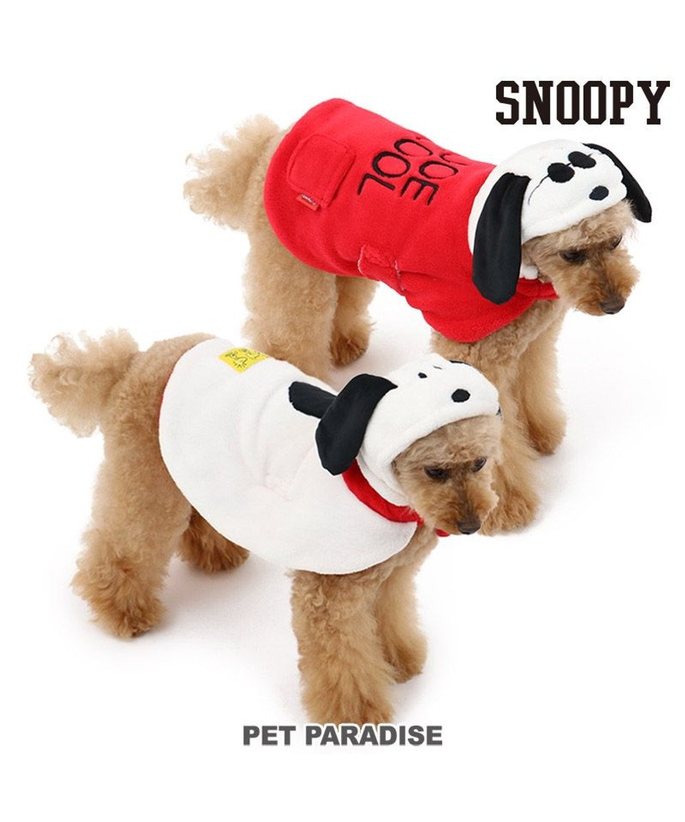 PET PARADISE 犬 服 秋服 スヌーピー ポンチョ 〔小型犬〕 リバーシブル ペットウエア ペットウェア ドッグウエア ドッグウェア ベビー 超小型犬 小型犬 赤