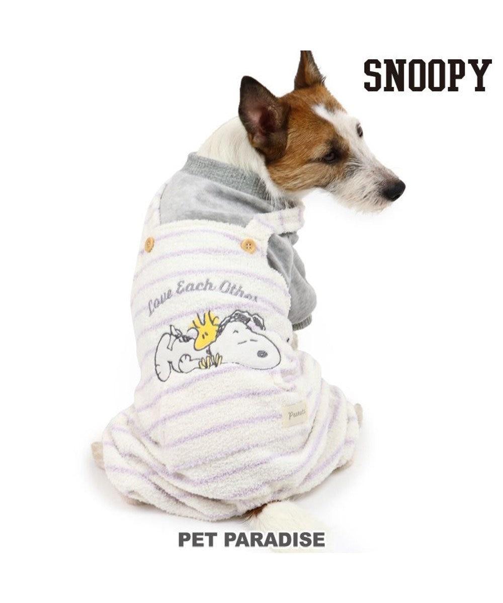 PET PARADISE 犬 服 秋服 スヌーピー パンツつなぎ 〔小型犬〕 もこふわ 犬服 犬の服 犬 服 ペットウエア ペットウェア ドッグウエア ドッグウェア ベビー 超小型犬 小型犬 白~オフホワイト