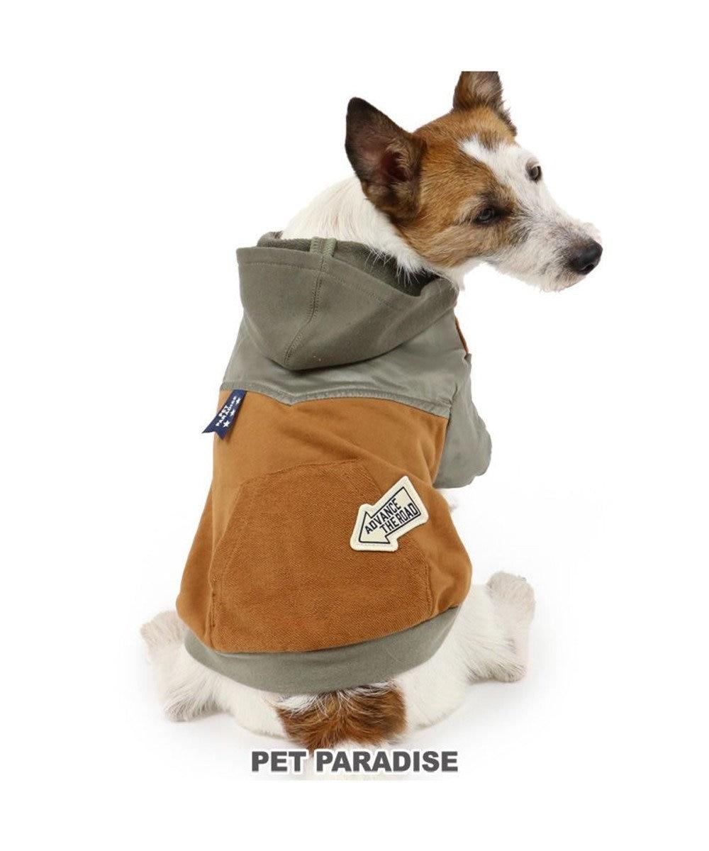 PET PARADISE 犬 服 パーカー 〔小型犬〕 切替え ブラウン 犬服 犬の服 犬 服 ペットウエア ペットウェア ドッグウエア ドッグウェア ベビー 超小型犬 小型犬 ブラウン