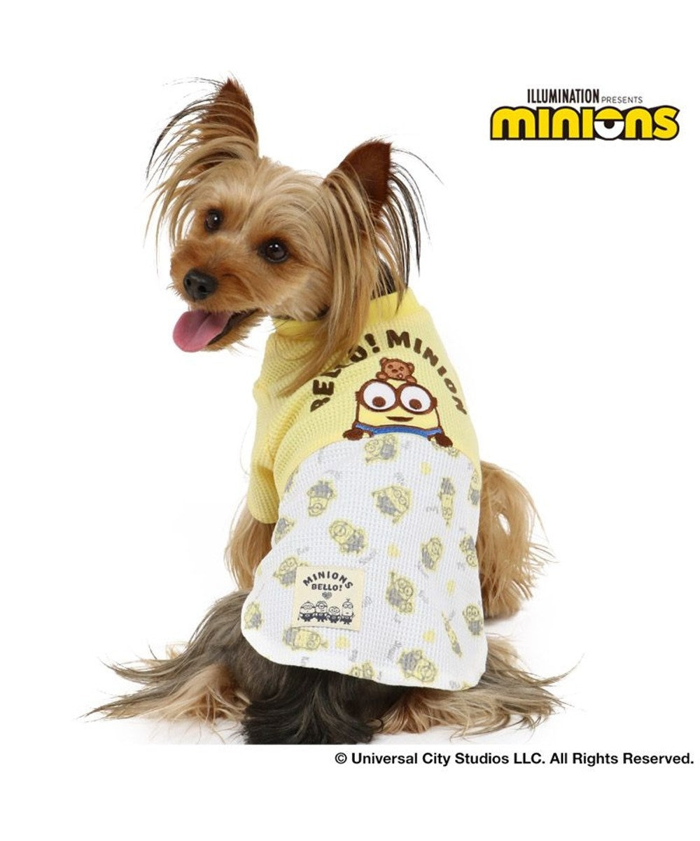 PET PARADISE 犬 服 春夏 ミニオン ワッフルTシャツ 〔小型犬〕 2ボブポケット ドッグウエア ドッグウェア イヌ おしゃれ かわいい 黄