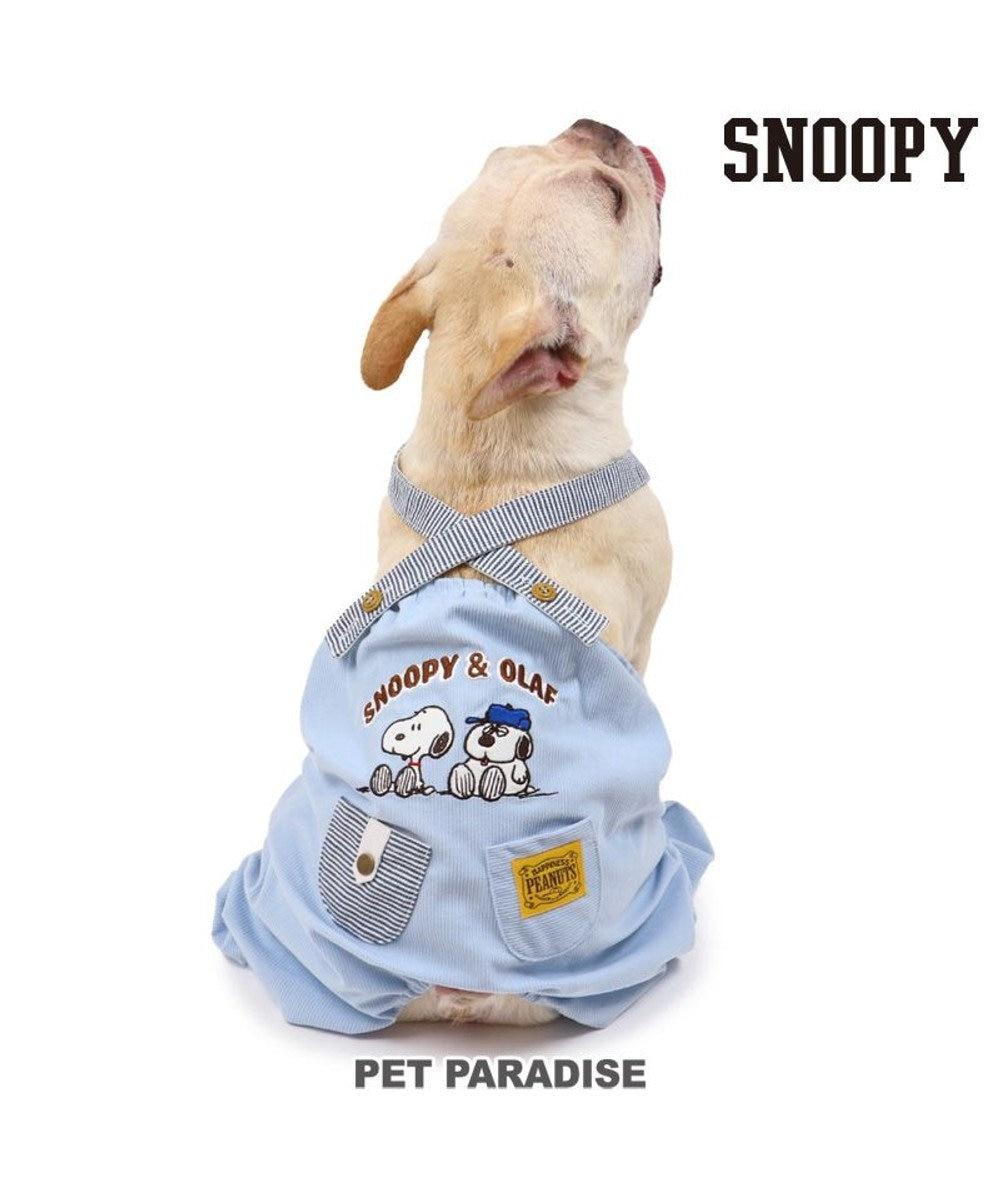 PET PARADISE 犬 服 夏 スヌーピー パンツつなぎ 〔中型犬〕 ブラザー サロペット 犬服 犬の服 犬 服 ペットウエア ペットウェア ドッグウエア ドッグウェア 水色