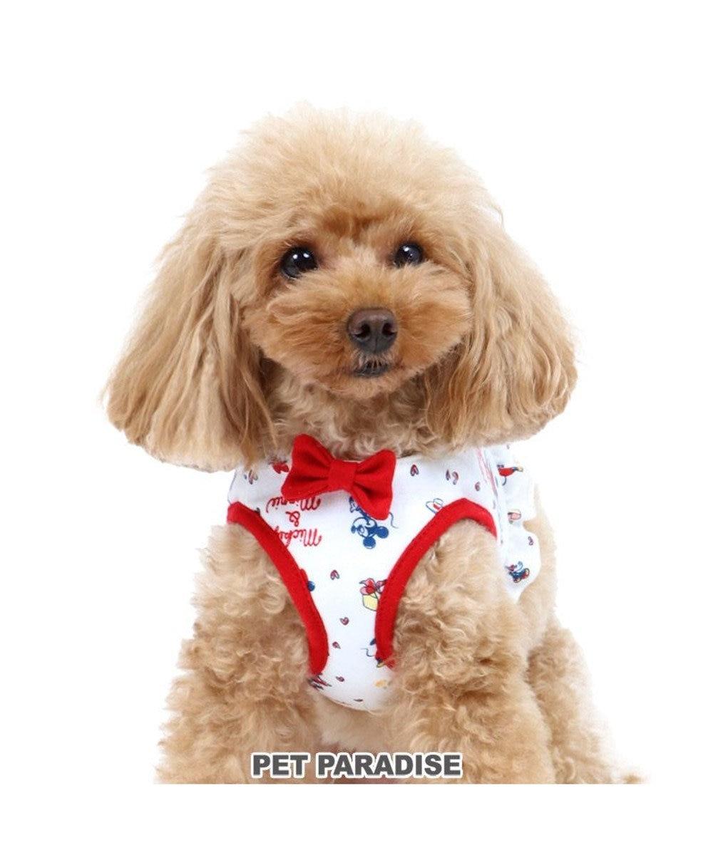PET PARADISE 犬 ハーネス ディズニー ミ二ーマウス ベストハーネス 【SS】 総柄 小型犬 おさんぽ おでかけ お出掛け おしゃれ オシャレ かわいい 白~オフホワイト