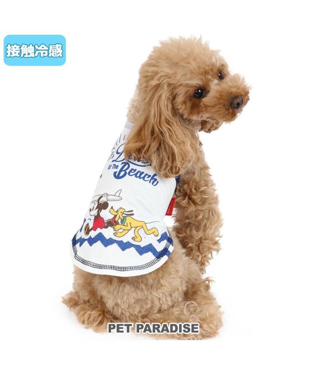 PET PARADISE 犬服 犬 服 ペットパラダイス ディズニー ミッキーマウス クール 接触冷感 サーフ タンクトップ 〔小型犬〕 超小型犬 小型犬 ひんやり 夏 涼感 冷却 吸水速乾 タッチワンクール 白~オフホワイト