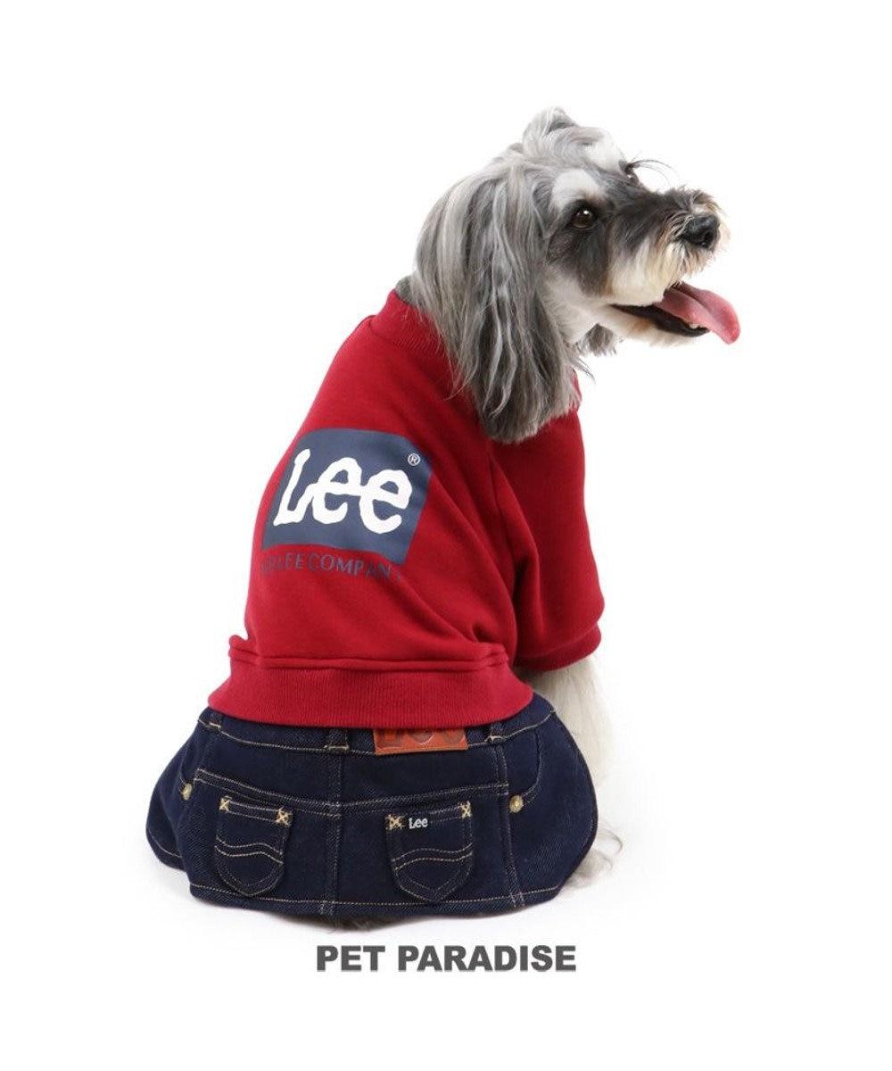 PET PARADISE 犬 服 秋服 Lee スカートつなぎ 〔小型犬〕 ブロックロゴ 犬服 犬の服 犬 服 ペットウエア ペットウェア ドッグウエア ドッグウェア ベビー 超小型犬 小型犬 赤