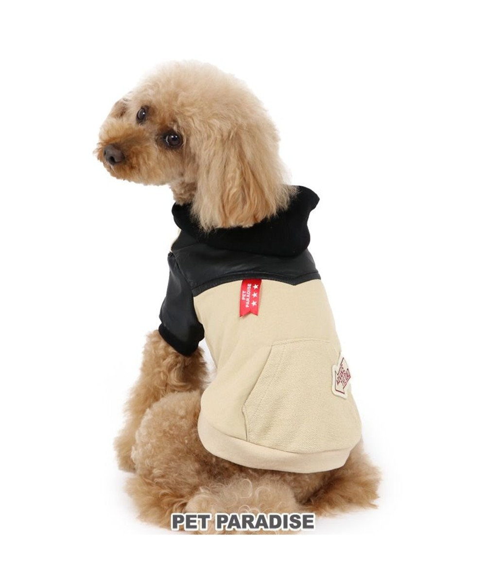 PET PARADISE 犬 服 パーカー 〔小型犬〕 切替え ベージュ 犬服 犬の服 犬 服 ペットウエア ペットウェア ドッグウエア ドッグウェア ベビー 超小型犬 小型犬 ベージュ