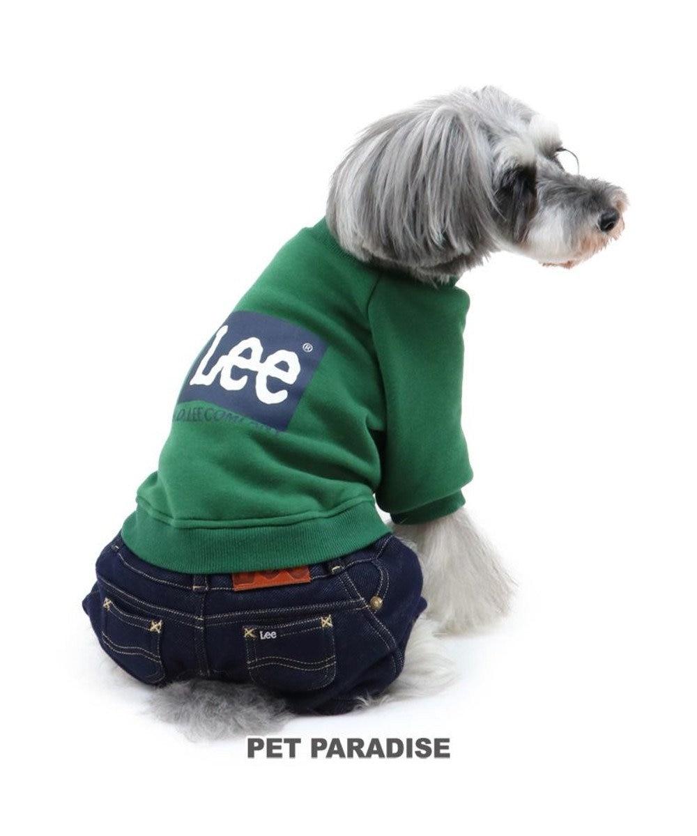 PET PARADISE 犬 服 秋服 Lee パンツつなぎ 〔小型犬〕 ブロックロゴ 犬服 犬の服 犬 服 ペットウエア ペットウェア ドッグウエア ドッグウェア ベビー 超小型犬 小型犬 緑系